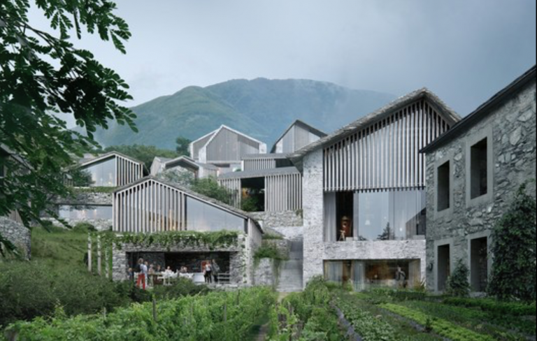 Secluded Swiss resort in Ticino