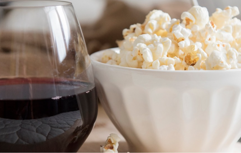 Turn to popcorn—and add a sparkling white—for an indulgent way to unwind.
