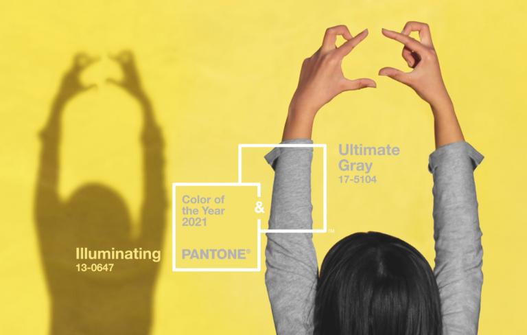 PANTONE® 17-5104 Ultimate Gray And PANTONE 13-0647 Illuminating; Source: Pantone
