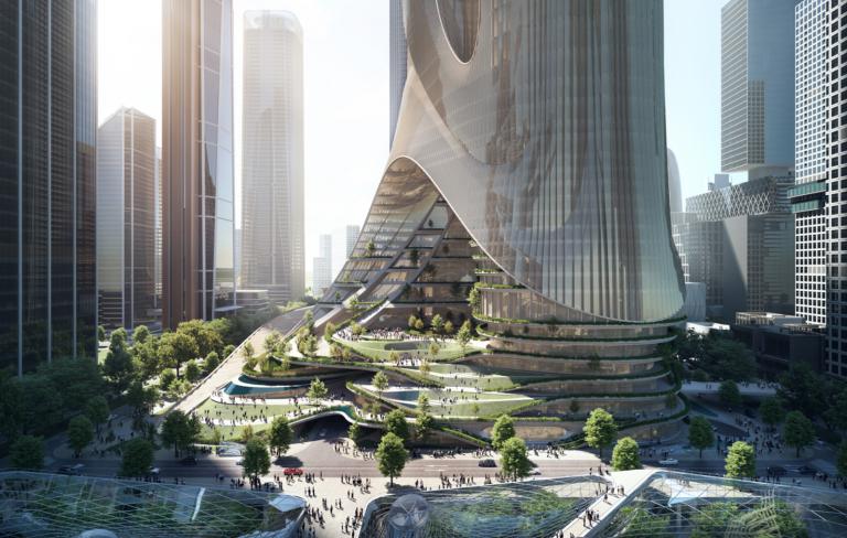 Tower C. Image © Brick Visual, Courtesy of ZHA