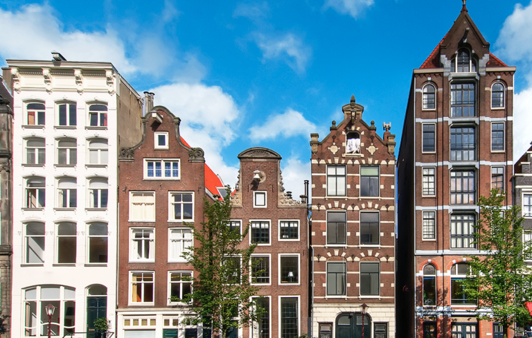 Merchant houses along Amsterdam's Heerengracht canal. Getty Images